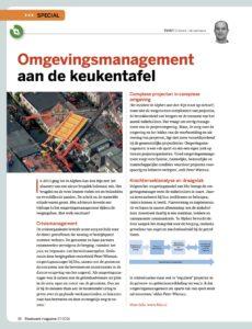artikel Omgevingsmanagement in Stadswerk geschreven door Desiree Scheid