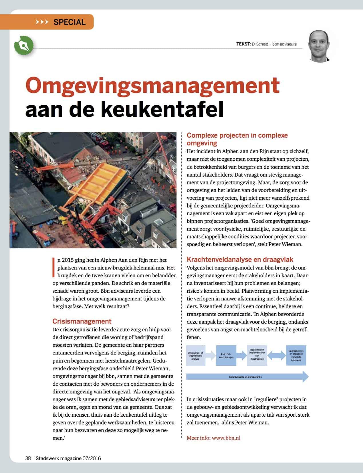 Omgevingsmanagement aan de keukentafel, Stadswerk Magazine
